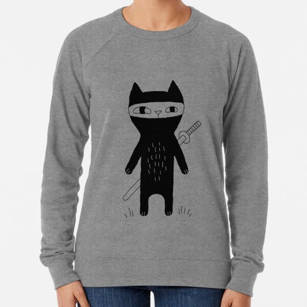 Ninja Cat Lightweight Sweatshirt