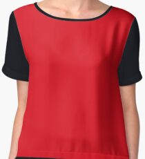Red Swagger Chiffon Top
