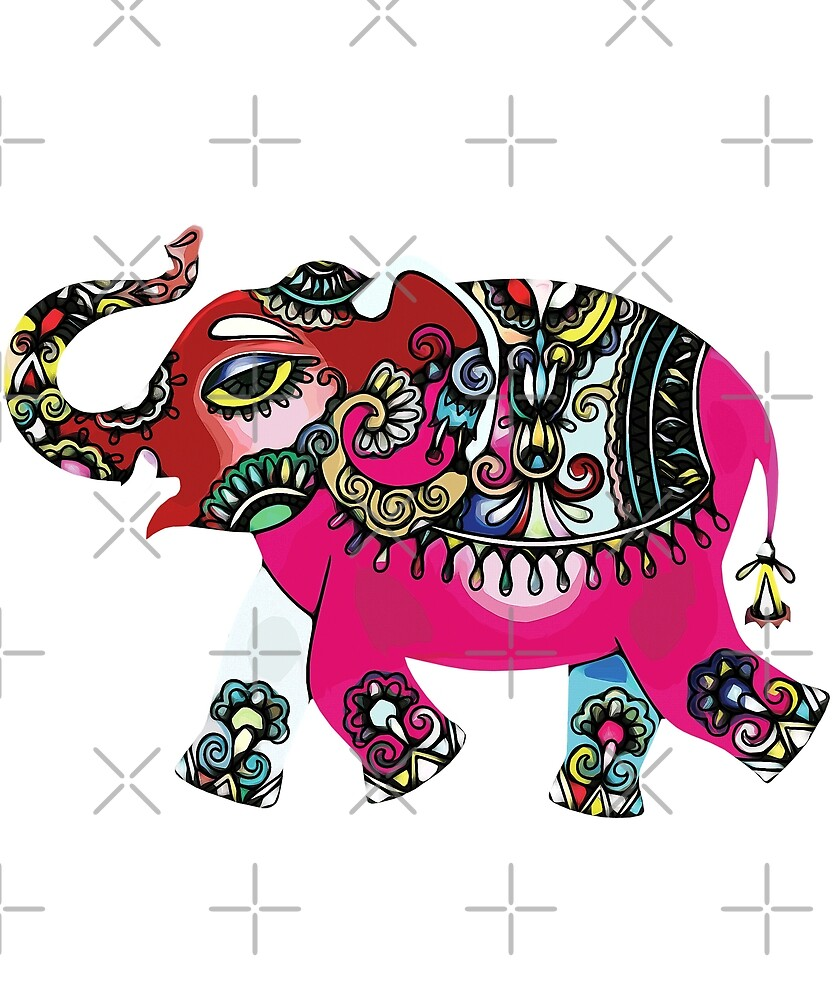 Colorful Elephant by ColorfulMystic