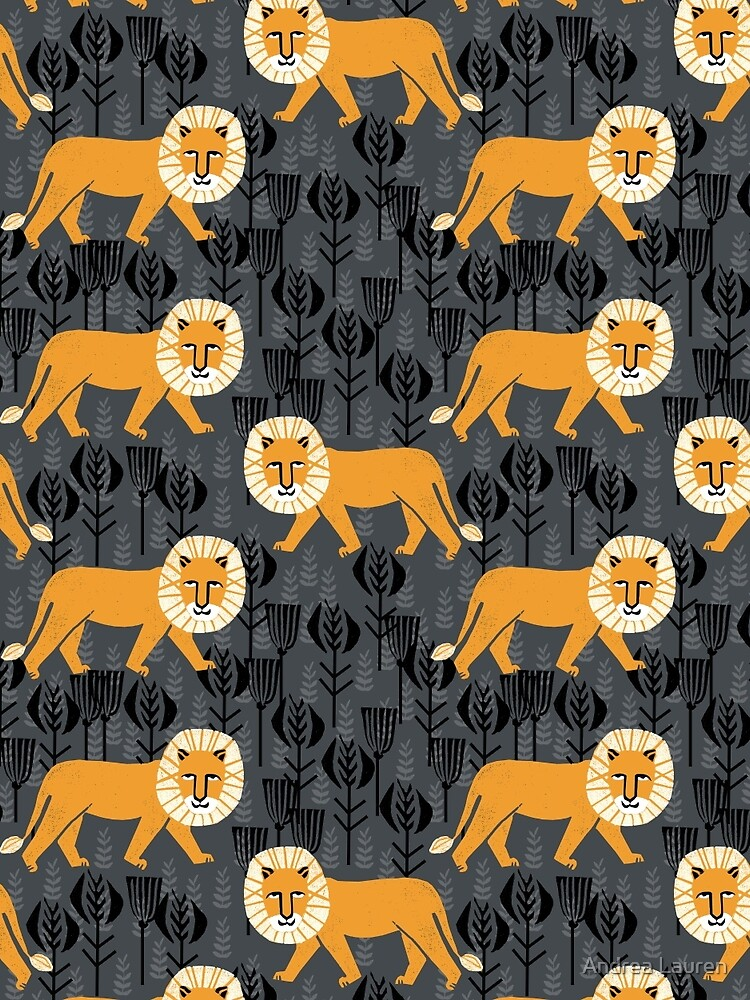 Safari Lion Pattern by Andrea Lauren by papersparrow