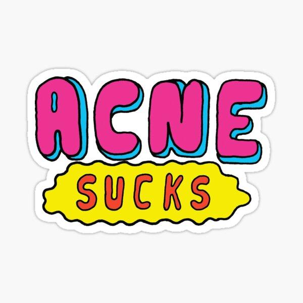 Acne Sucks Sticker