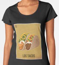 Loteria Style Card - Los Tacos Women's Premium T-Shirt