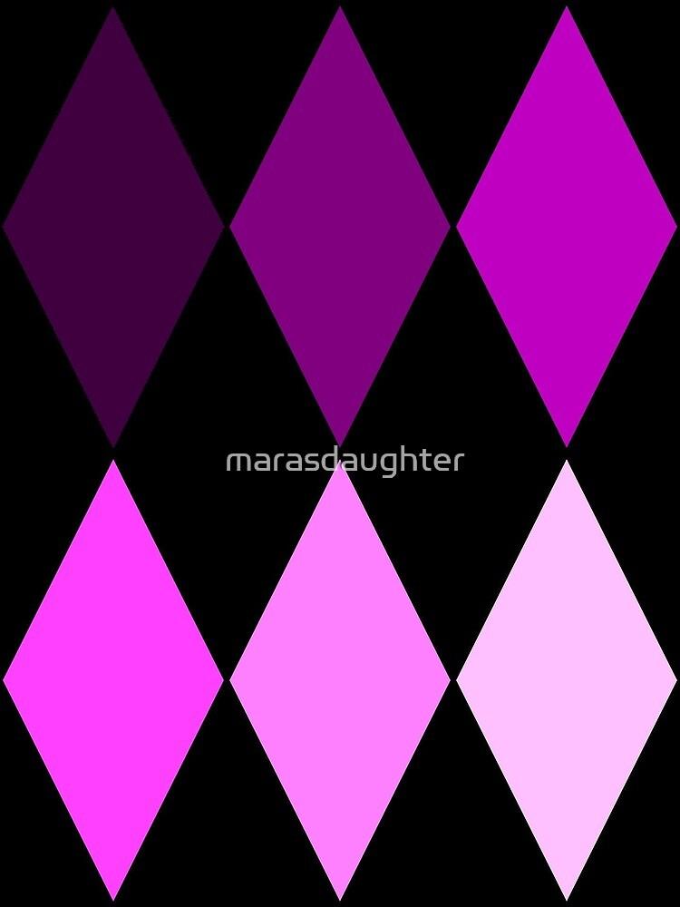 harlequin purple fade circus clown diamonds by marasdaughter