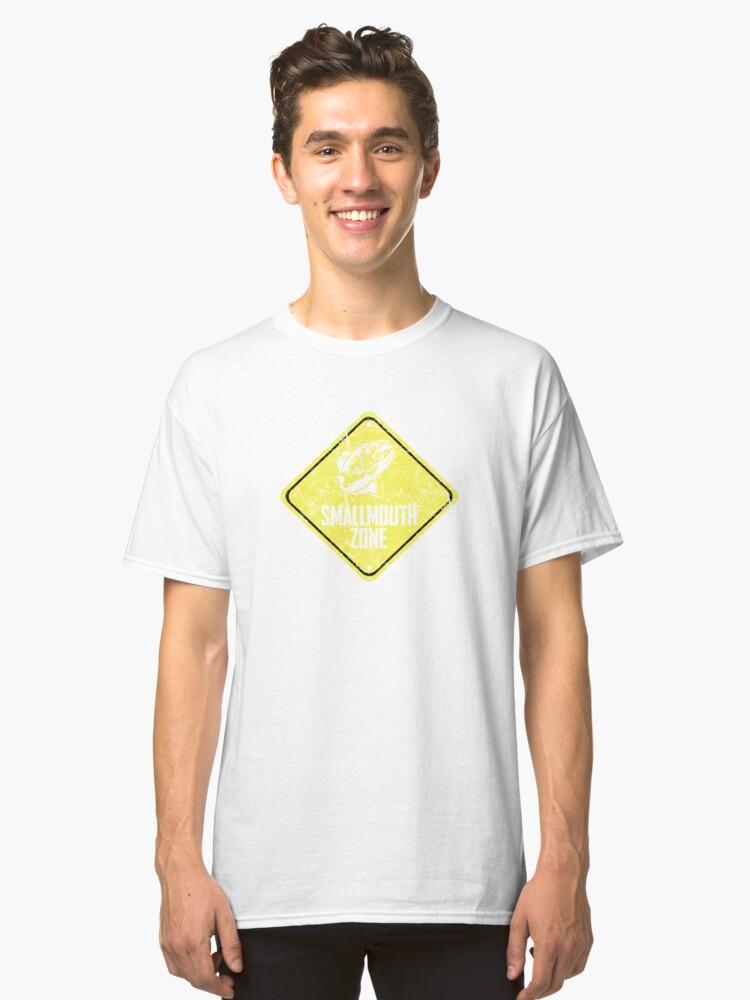 Smallmouth Bass Zone Fishing Zone Funny Tshirt Classic T-Shirt Front