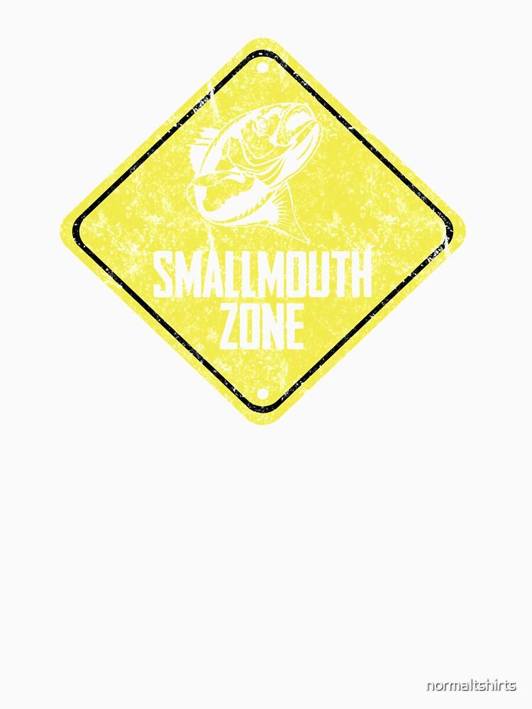Smallmouth Bass Zone Fishing Zone Funny Tshirt by normaltshirts
