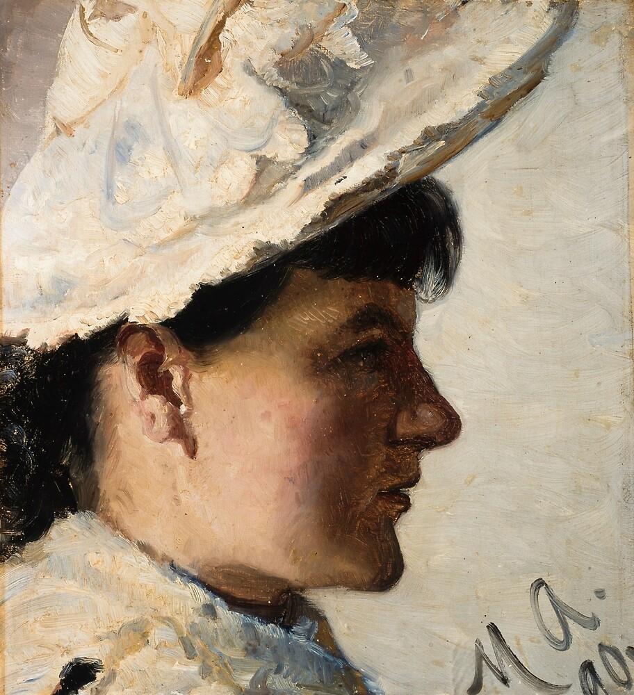 Gerda Ahlborn by Michael Ancher by classicartcache