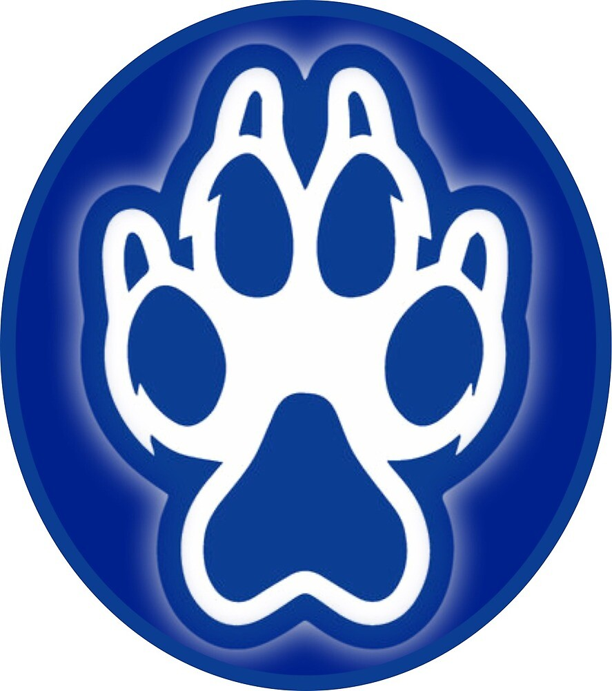 Sonoma State University Seawolf Paw Sticker by mikaarielle