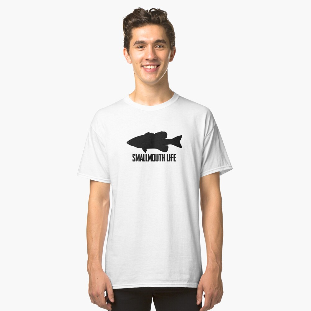 Fishing Smallmouth Bass Smallmouth Life Silhouette Classic T-Shirt Front