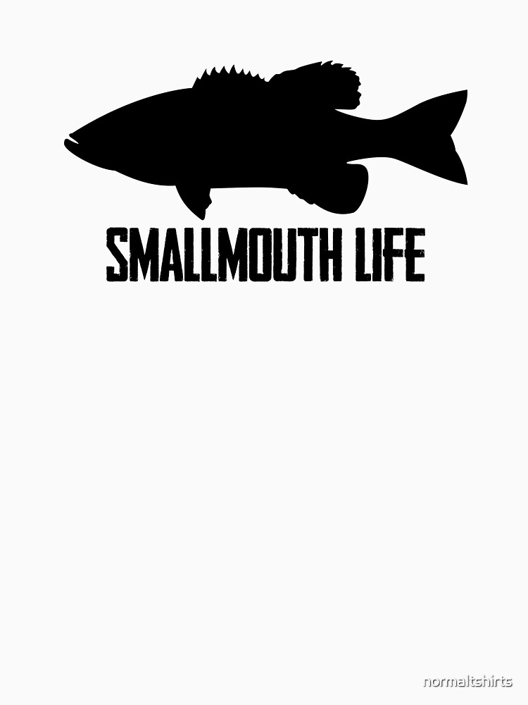 Fishing Smallmouth Bass Smallmouth Life Silhouette by normaltshirts