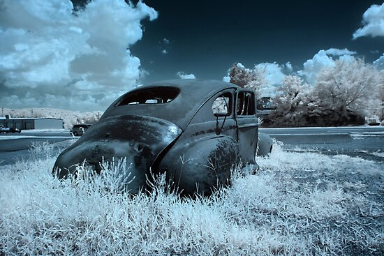 Abandoned Plymouth - infrared by mal-photography