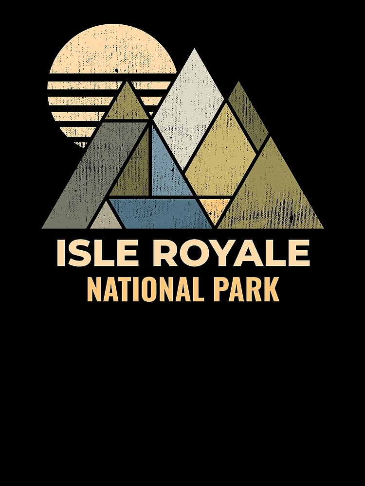 Isle Royale Michigan Distressed by NationalParksCo