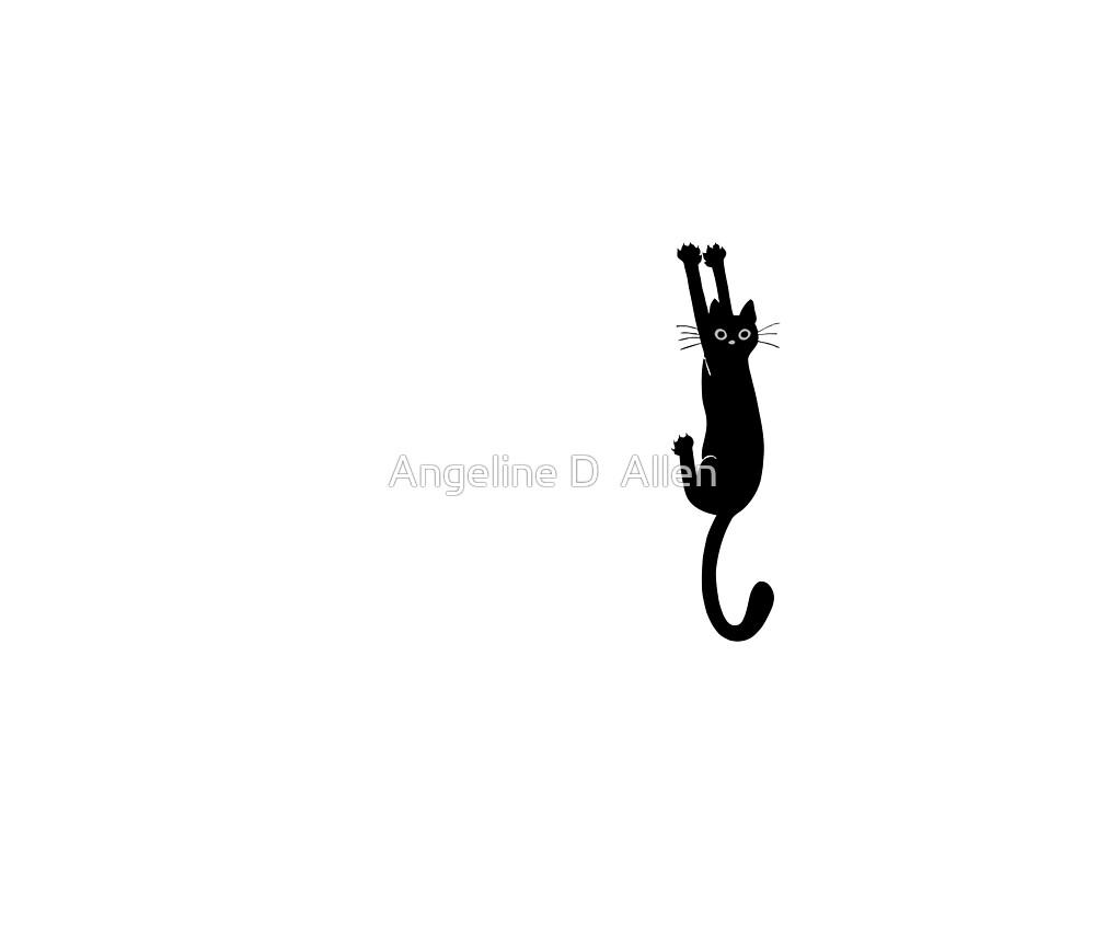 black cat by Angeline D  Allen