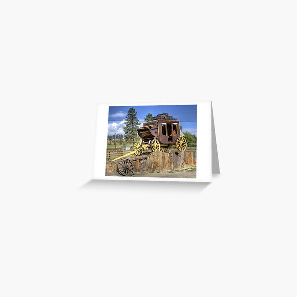 Prairie Stagecoach Greeting Card