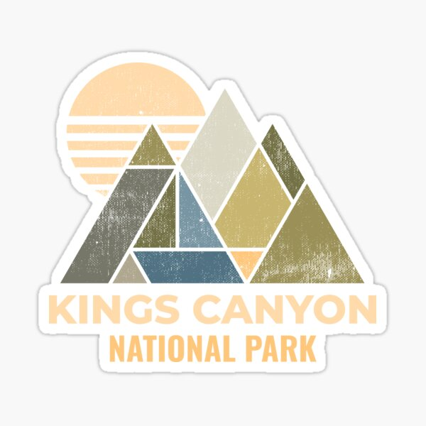 Kings Canyon California Distressed Sticker