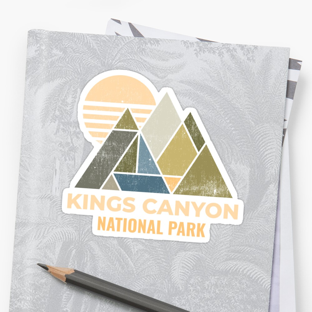 Kings Canyon California Distressed by NationalParksCo