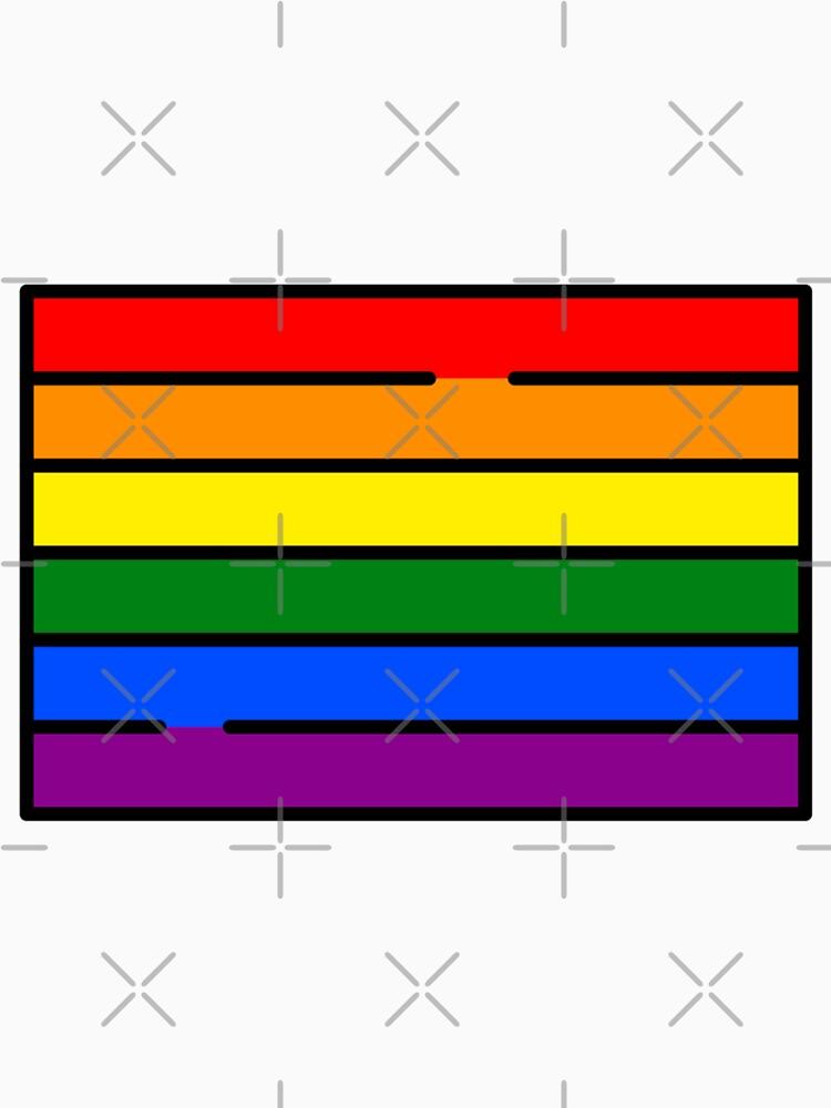 LGBT FLAG PRIDE LOVE IS LOVE GAY COMMUNITY by revolutionlove