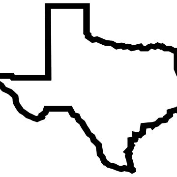 Texas State Outline by TheMiddleWest