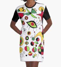 Joan Miro Peces De Colores (Colorful Fish ), T Shirt, Artwork Reproduction Graphic T-Shirt Dress