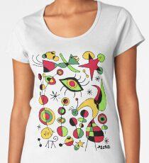 Joan Miro Peces De Colores (Colorful Fish ), T Shirt, Artwork Reproduction Premium Scoop T-Shirt