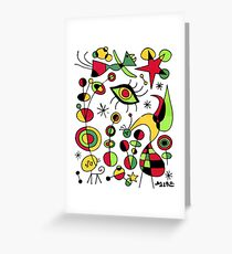 Joan Miro Peces De Colores (Colorful Fish ), T Shirt, Artwork Reproduction Greeting Card