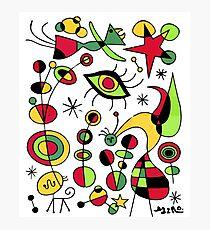 Joan Miro Peces De Colores (Colorful Fish ), T Shirt, Artwork Reproduction Photographic Print