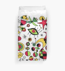 Joan Miro Peces De Colores (Colorful Fish ), T Shirt, Artwork Reproduction Duvet Cover
