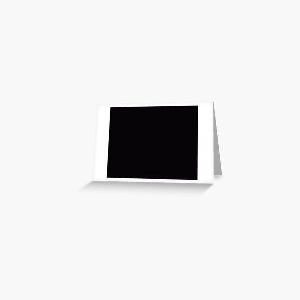 Basic Black Greeting Card