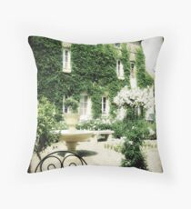 Le Jardin aux Roses Blanches Throw Pillow