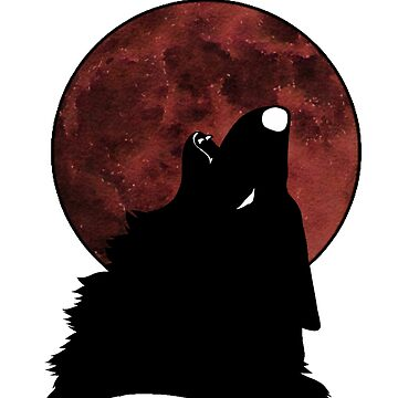 Dark wolf howlin at the moon by CaylinsDesigns