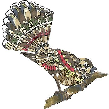Mandala Fantail  by Hummingbirdnz