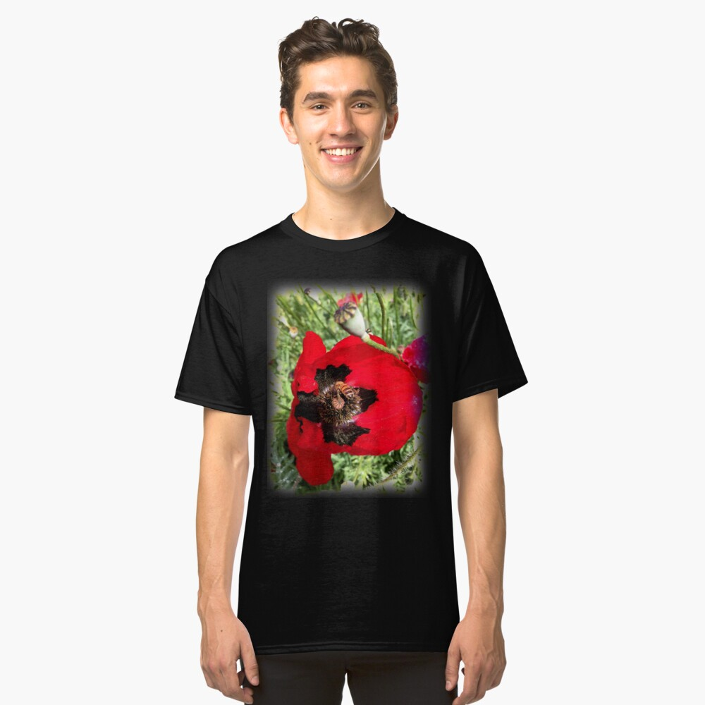 Poppy and Bee from A Gardener's Notebook Classic T-Shirt