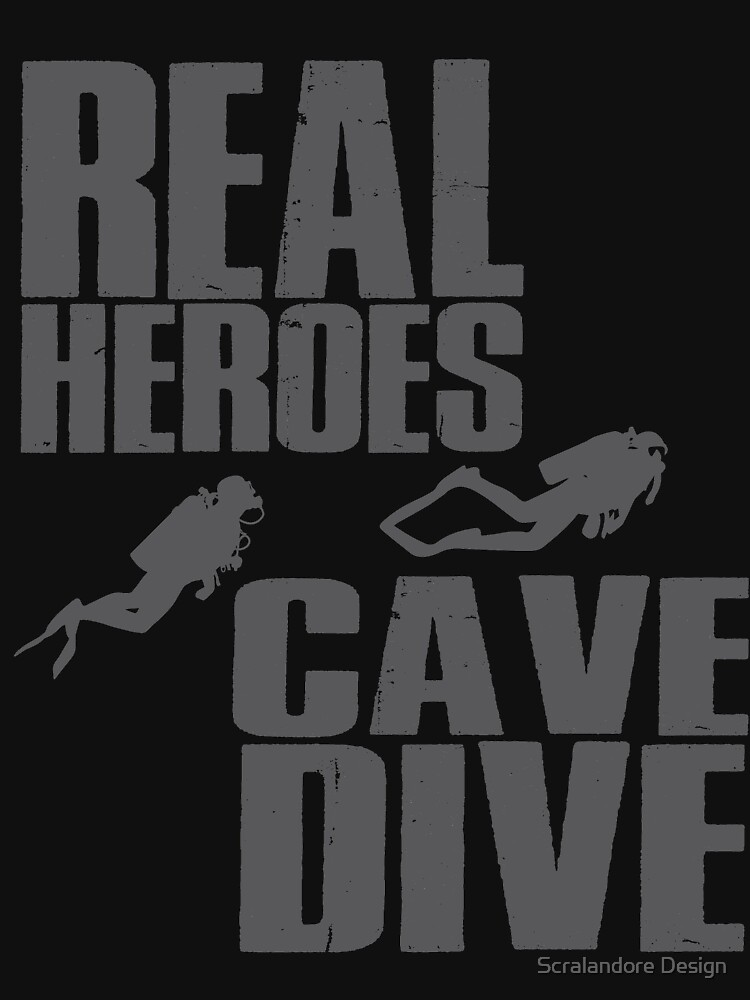 Real Heroes Cave Diver Super Scuba Tees Shirt by Scralandore by Nslock5000