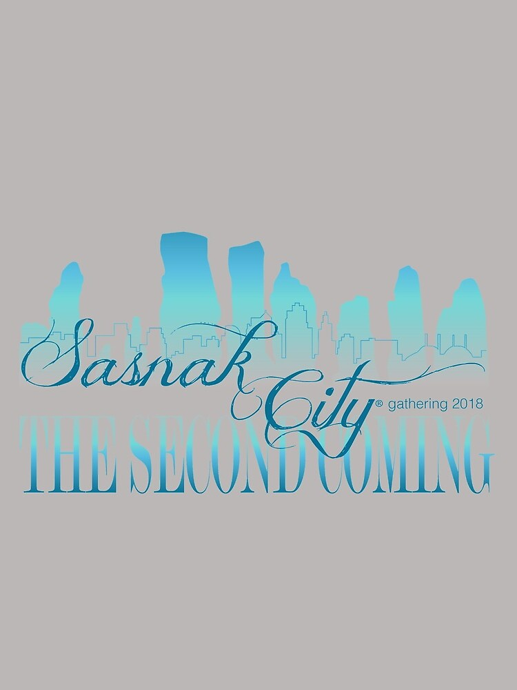 Sasnak City 2nd Coming Drawstring Bag by SASNAK1