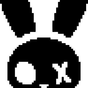 Skeleton Bunny Logo by bruisedbunn