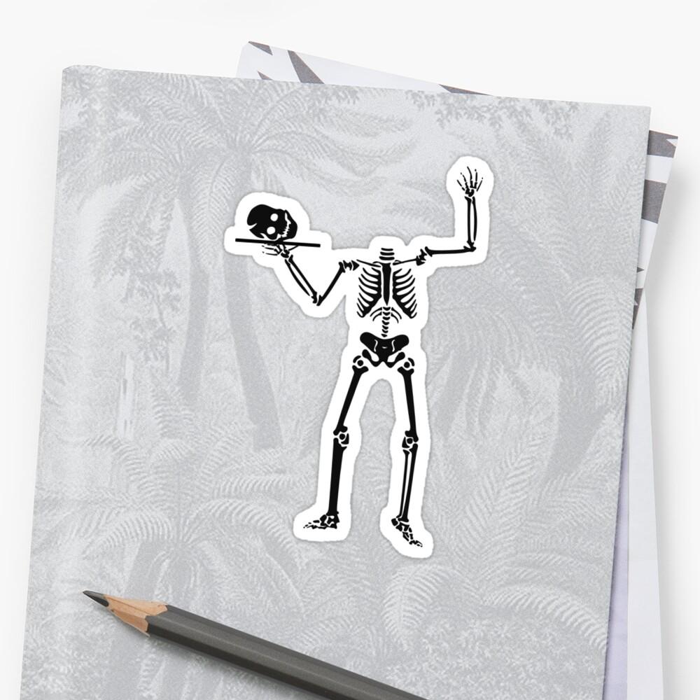 Skeleton Skull Head On A Platter by AhuvaR