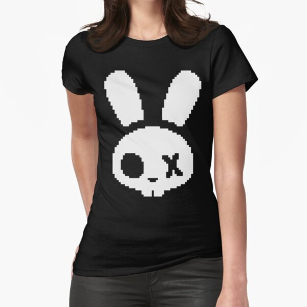 Skeleton Bunny Logo Fitted T-Shirt