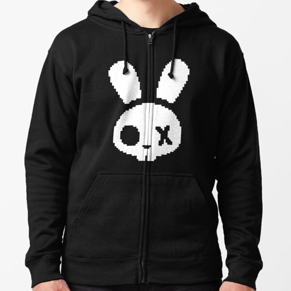 Skeleton Bunny Logo Zipped Hoodie
