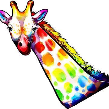 Colorful Giraffe by CaylinsDesigns