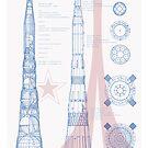 N1-L3 ROCKET PLANS Russian rocket blueprint soviet moon rocket USSR by Robert Cook