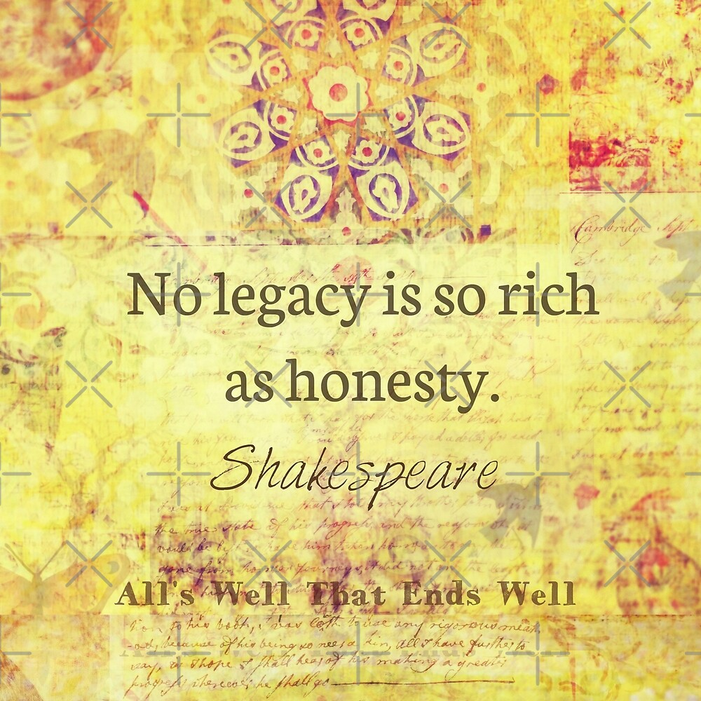 Shakespeare integrity honesty Quote by goldenslipper