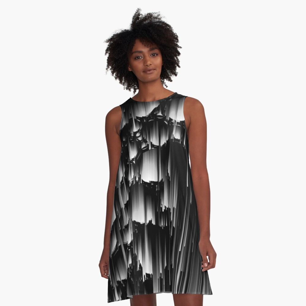 Gray Day A-Line Dress Front