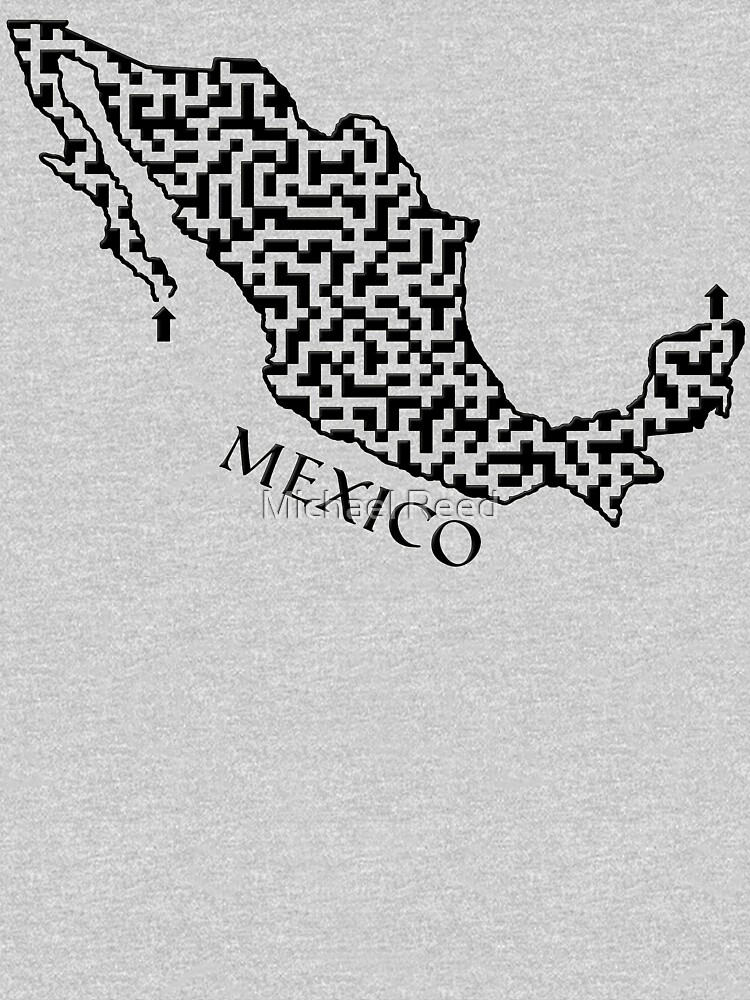 Mexico Outline Maze & Labyrinth by gorff