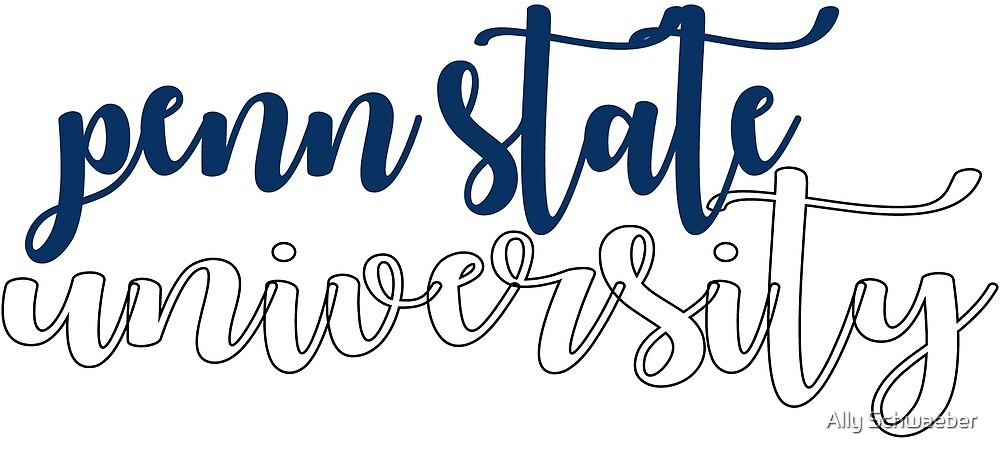Penn State University Calligraphy by Ally Schwaeber