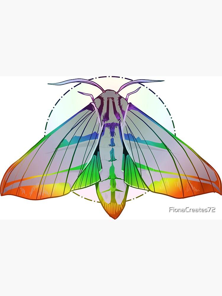 Rainbow Moth by FionaCreates72