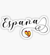 Pegatina Spain Heart, España, bandera española