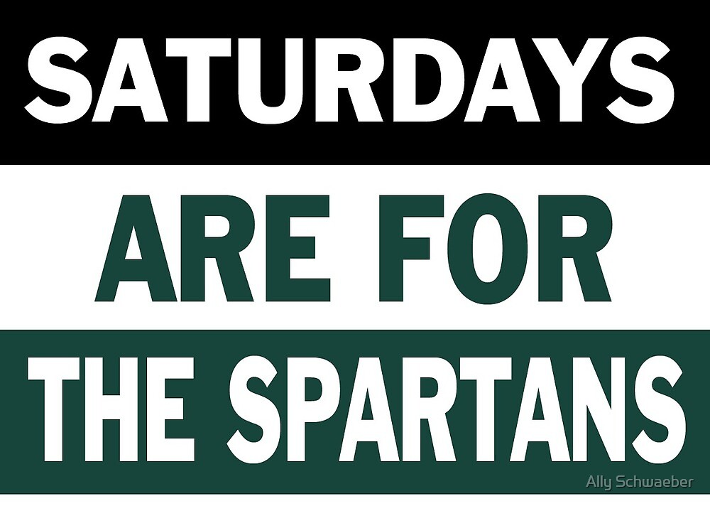 Saturdays are for the Spartans by Ally Schwaeber