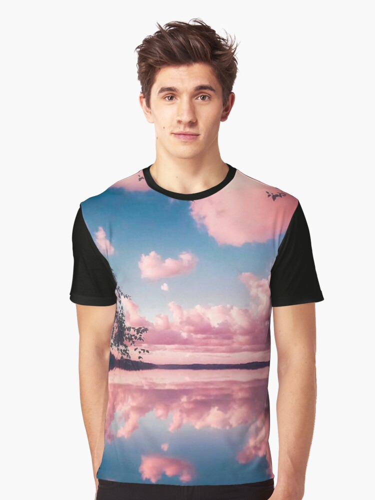 Pink Clouds Graphic T-Shirt Front