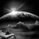 Solitary Planetrise by riproots