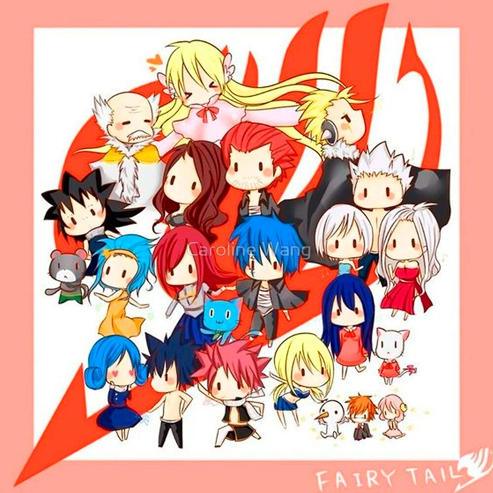 Fairy Tail Members!!!!! by Caroline Wang