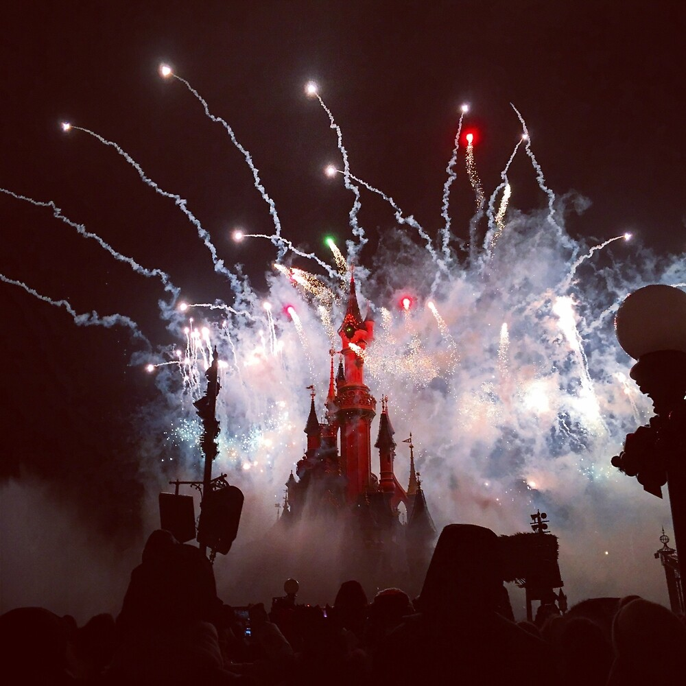 Castle fireworks  by nataly-h